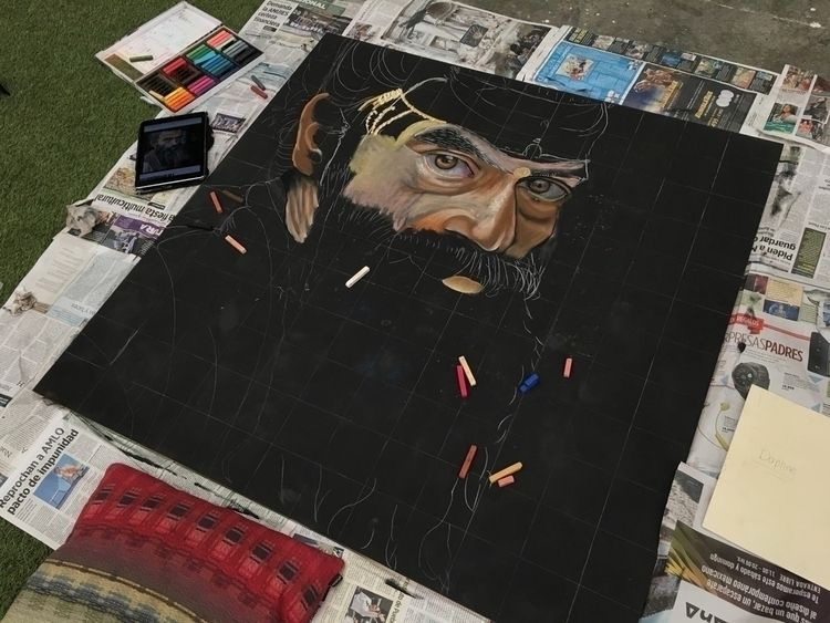 Madonnari Artwork - softpastels, - wikibuda | ello