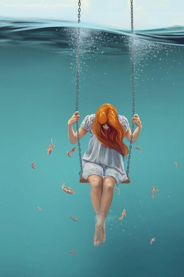 Girl Underwater Art. Visit Site - kh-zain | ello