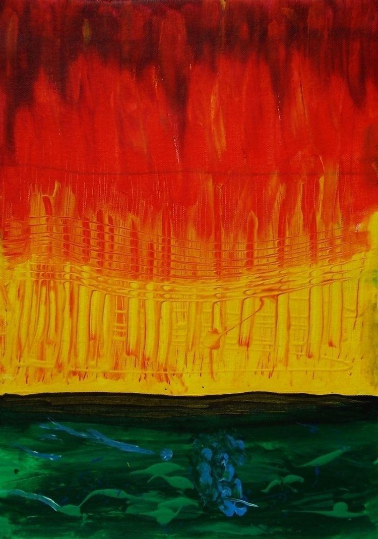 Flames waterline  - artje, art, stillnotoil - anizeu | ello