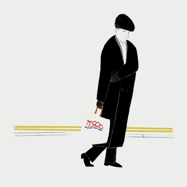 man Tesco bag - illustration, elloillustration - giuliapierobon | ello