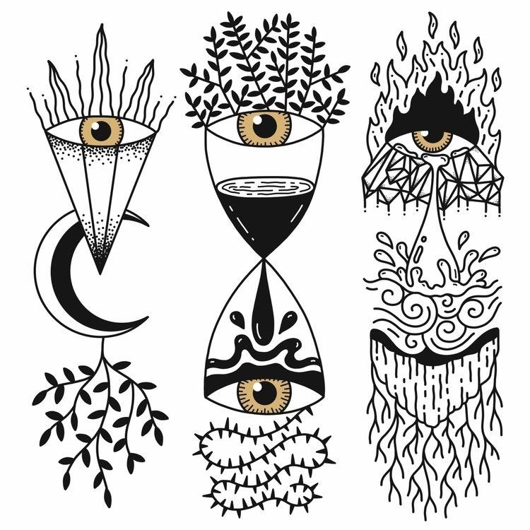 Sun, star, moon, nature - Time  - alicecquaglia | ello