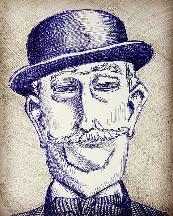 Sketch 038 - School Gentleman - cartoon - 999sketches | ello