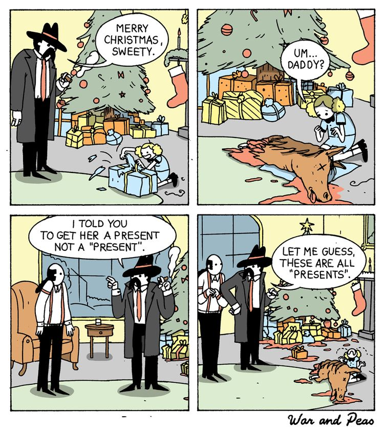 Present - comic, warandpeas, godfather - warandpeas | ello