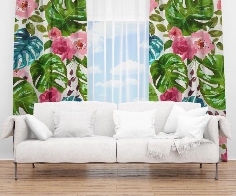 'Tropical Shades' Window Curtai - 83oranges | ello