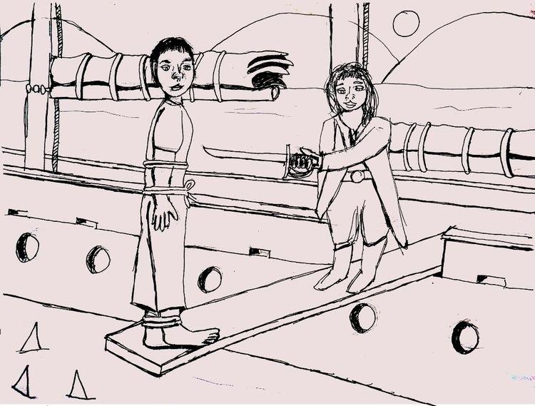 Walking Plank Pencil, pen paper - artchrisdale | ello