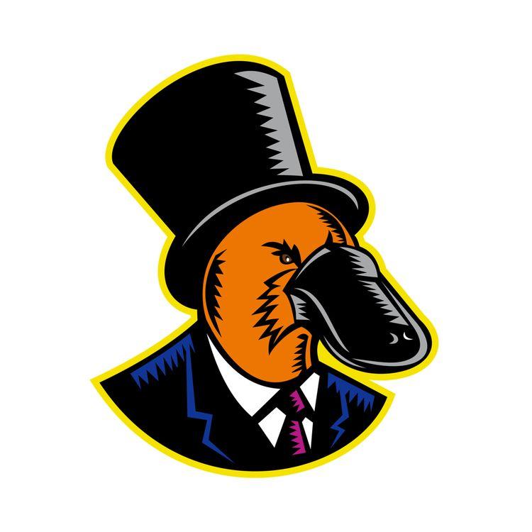 Duck-billed Platypus Tophat Woo - patrimonio | ello