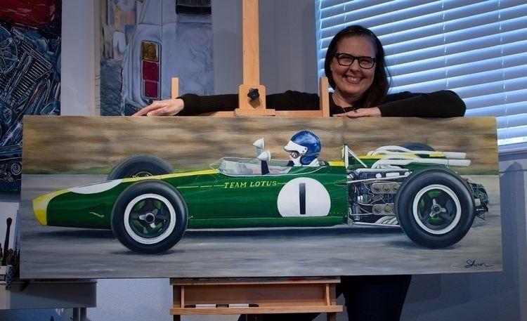 1966 F1 Lotus 43, 20″x60″x1.5 - painting - shanfannin | ello