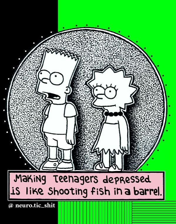 thesimpsons, bart, lisa, draw - neuroticshit | ello