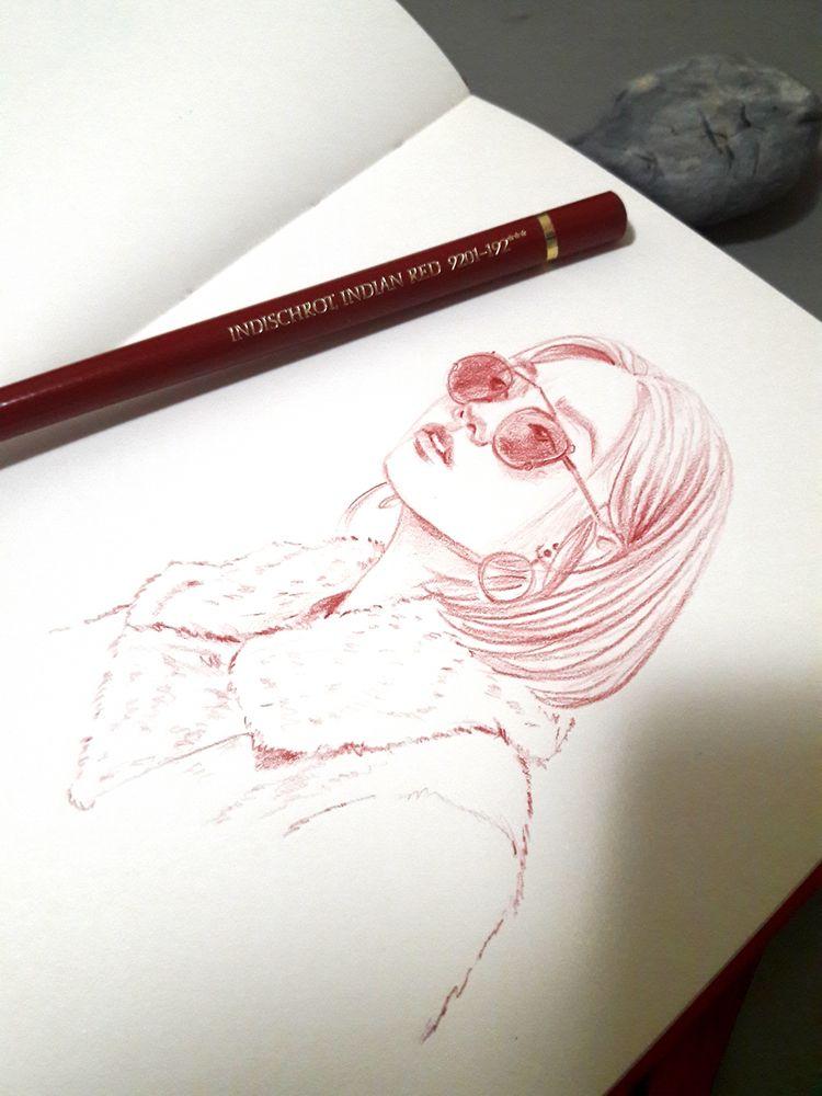 Indischrot Red Glasses - drawing - j0eyg1rl | ello