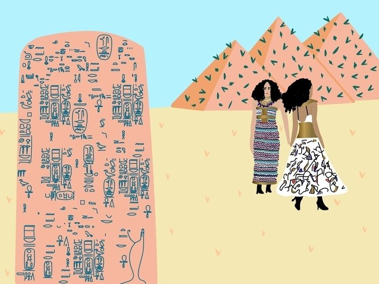illustration, egypt, chanel, fashion - sandramaher_ | ello