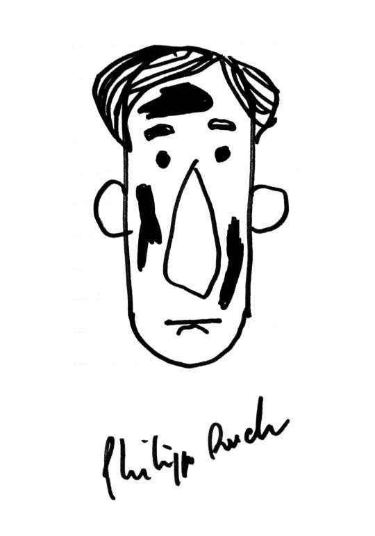 Philipp Ruch, Portrait, drawing - jphg   ello