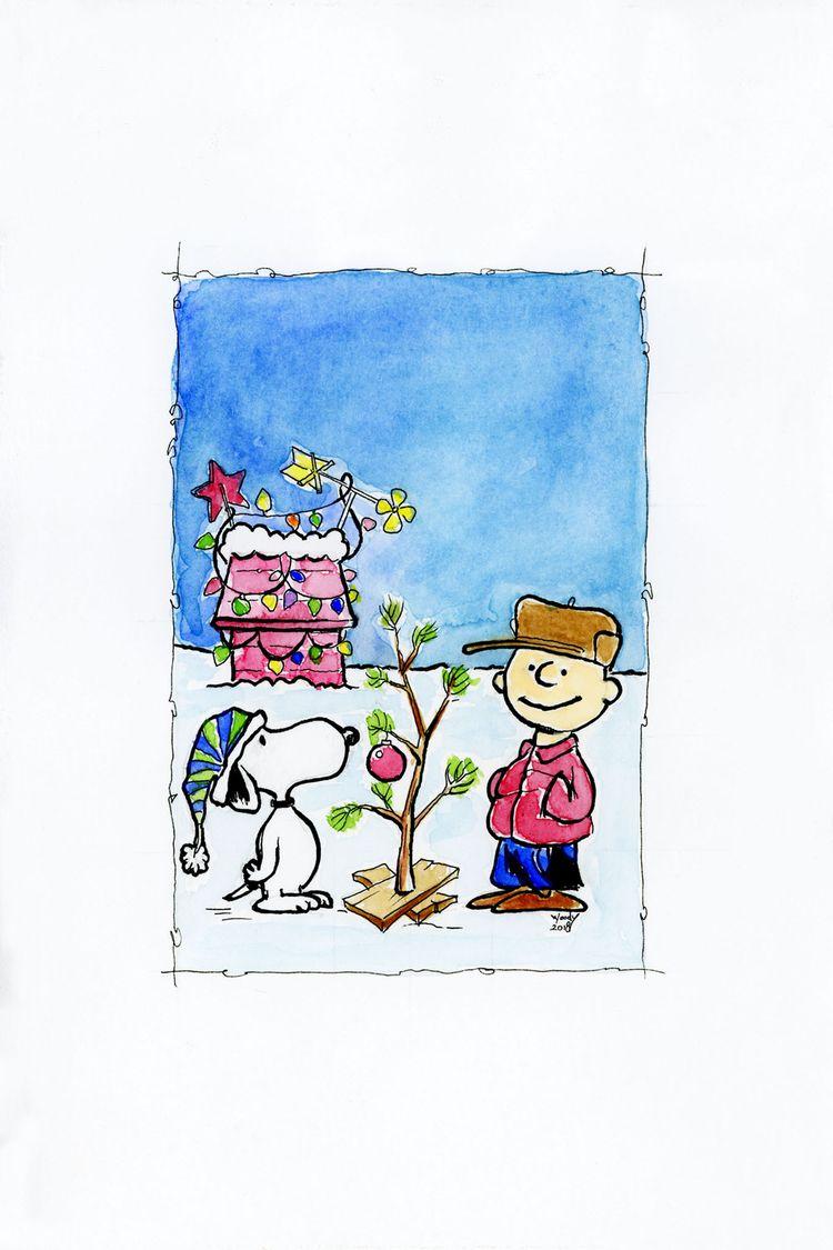 Charlie Brown: Christmas card,  - nephellim | ello