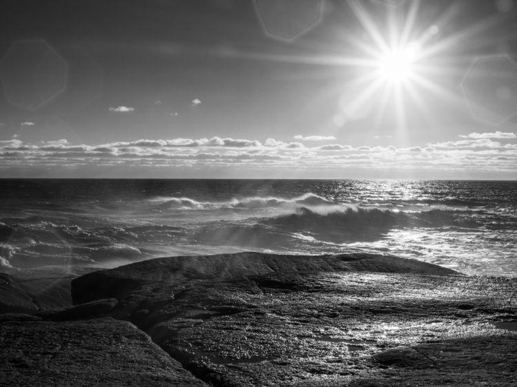 Winter Waves Cove black white.  - notnowimbusy | ello