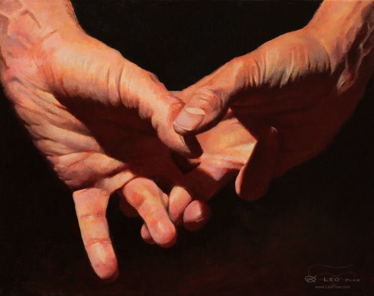 Hands 07, 30 24cm, oil canvas a - leoplaw | ello