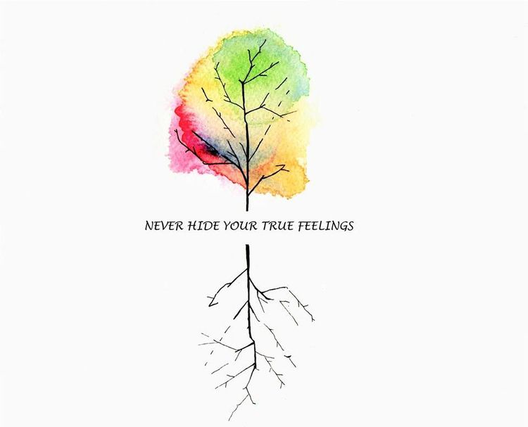 hide true feelings ink watercol - allthingsinky | ello