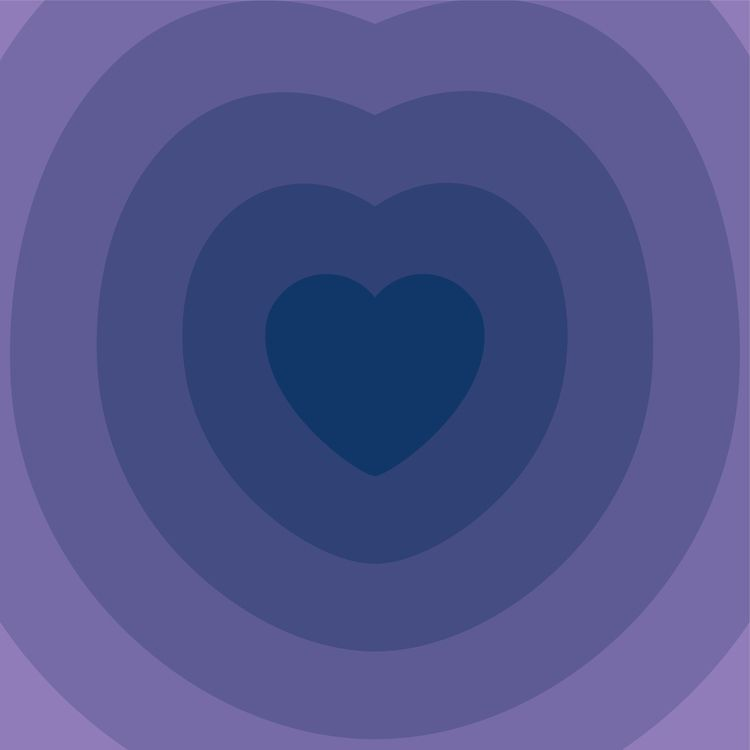 SOCIETY6 - heart, lilla, digital - bembureda | ello