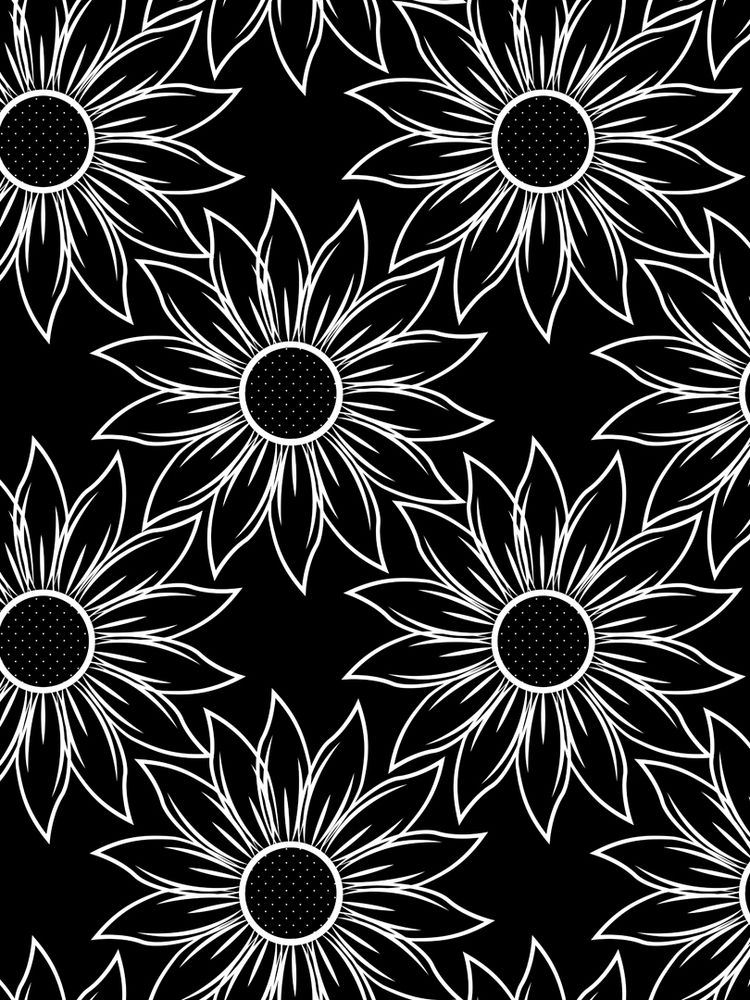 Black white sunflowers. large s - svaeth | ello