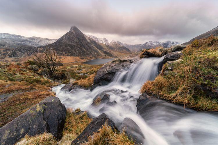 wintry day Snowdonia. Afon Lloe - mathewbrowne | ello