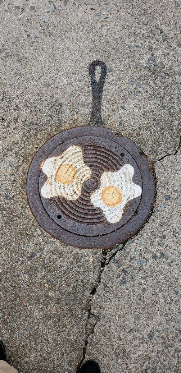 breakfast, streetart, sidewalkart - ib50ish | ello