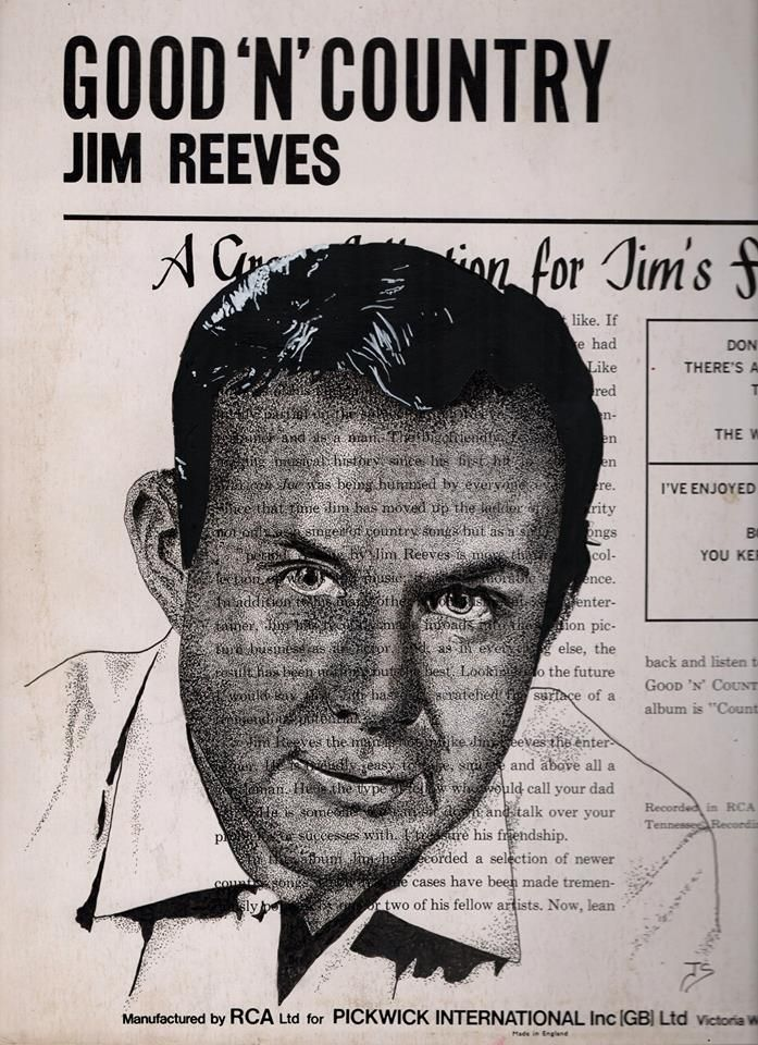 Jim Reeves ink 1970 record cove - allthingsinky | ello