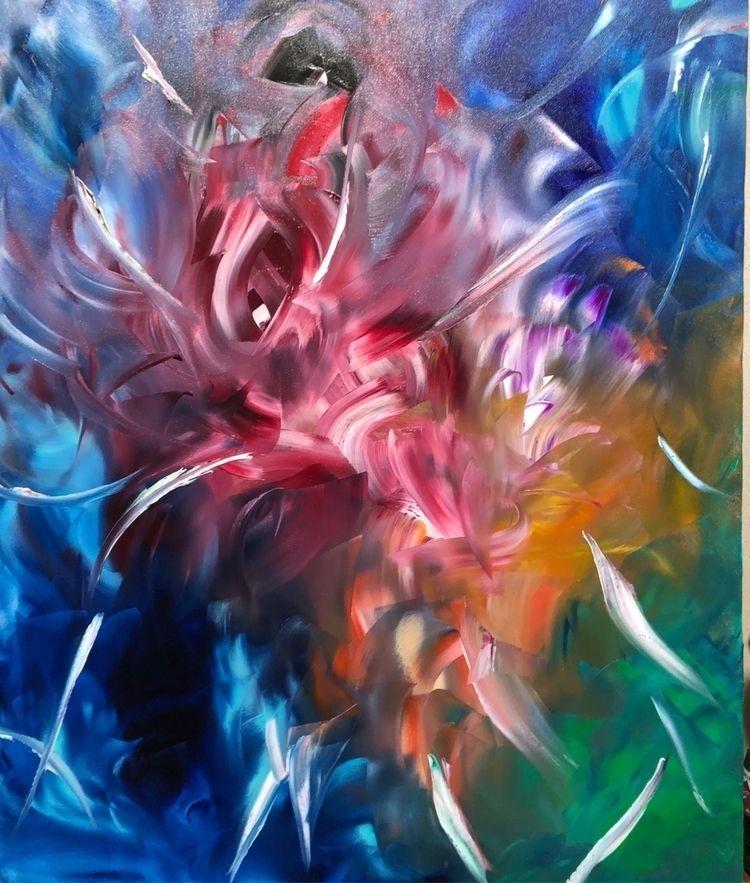 abstract painting Facebook live - taichi_nagayama | ello