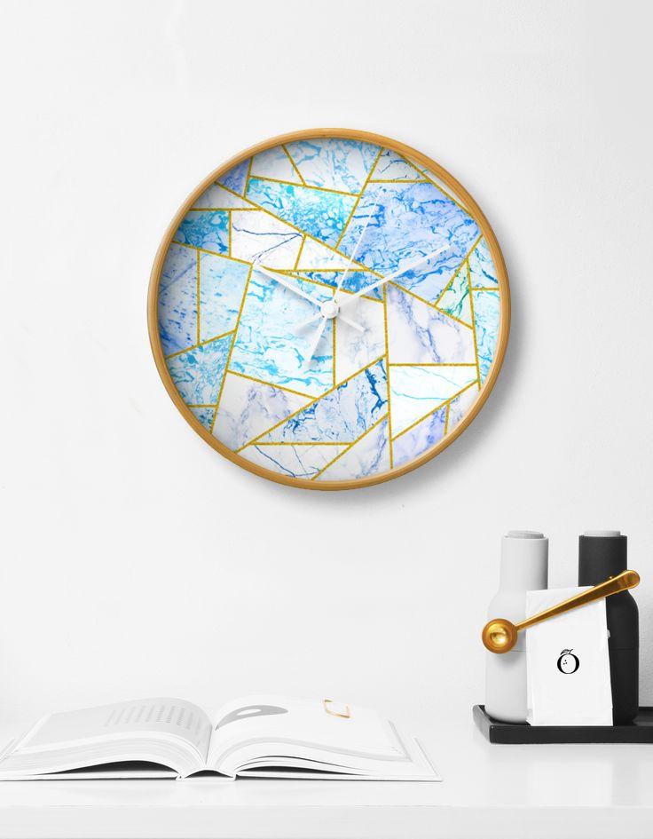 'Geometria' Wall Clock Decor - society6 - 83oranges | ello
