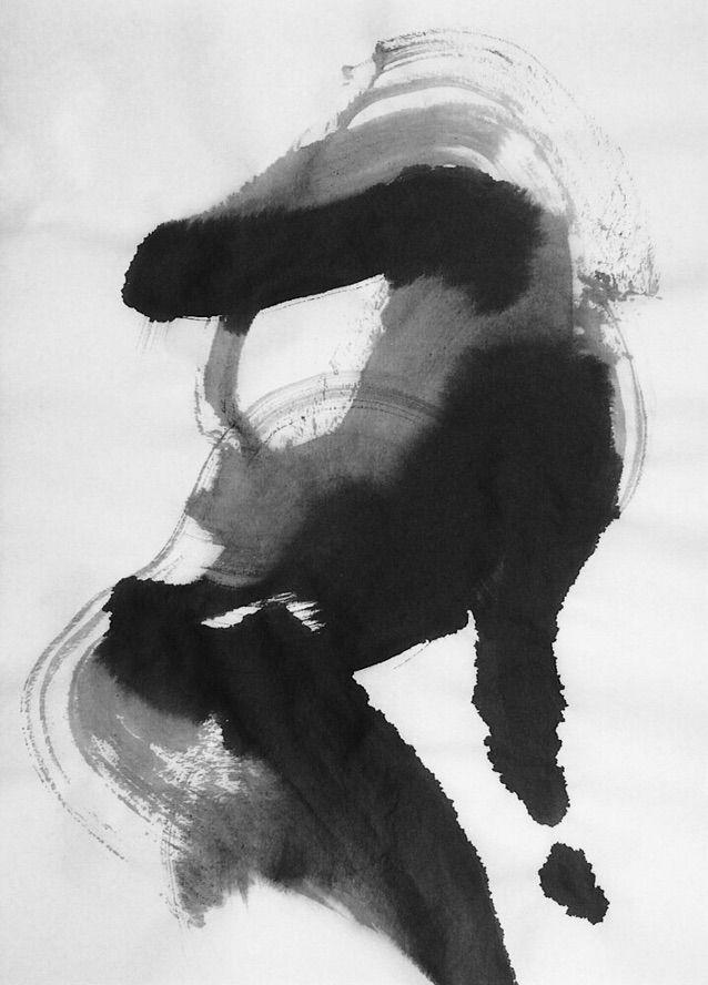 art, inkwash, figurative, mlui - mlui   ello