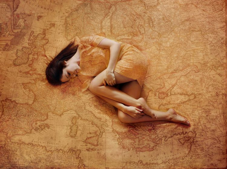 Journey Earth - girl, maps, dress - kirillpanfilov | ello