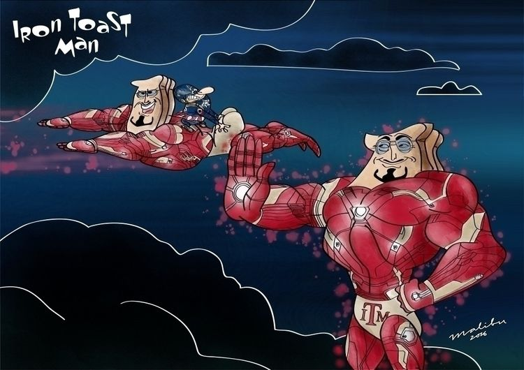 Iron Toast Man - illustration, renandstimpy - mightymutantmalibu | ello