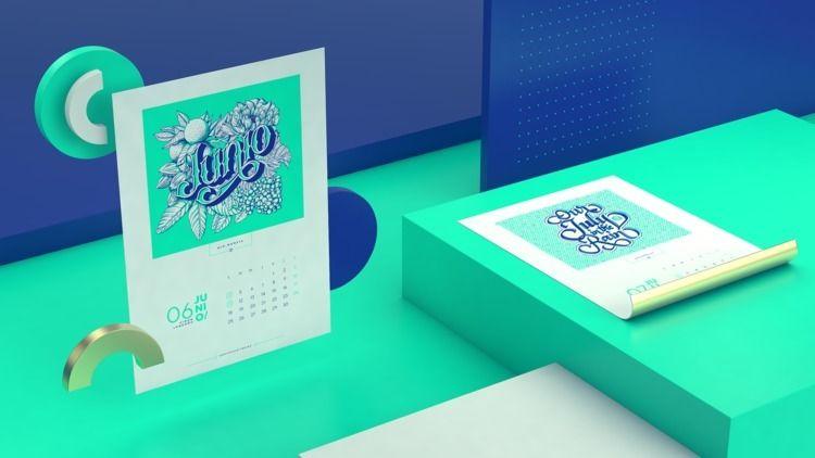 Bogotá Lettering Calendar - graphicdesign - alejogp16 | ello