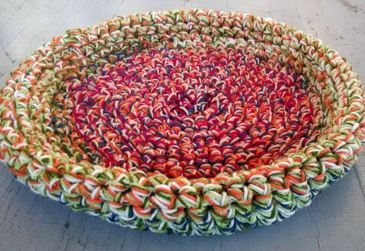Handmade Crochet Cat Bed Bowl S - maryherrigfiberarts | ello