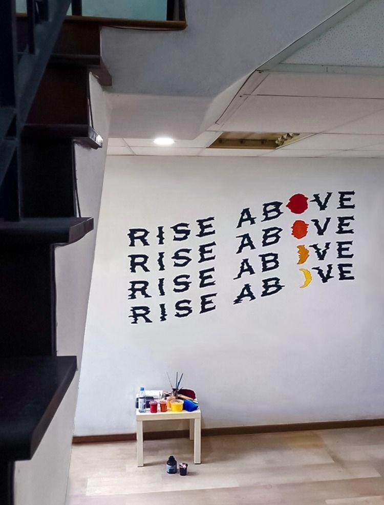 Rise Mural - mural, singapore, residential - leahdesign | ello