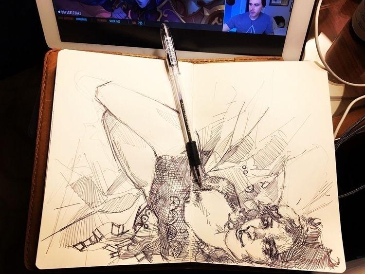 Scribbling - ballpointpen, illustration - feensdraw | ello