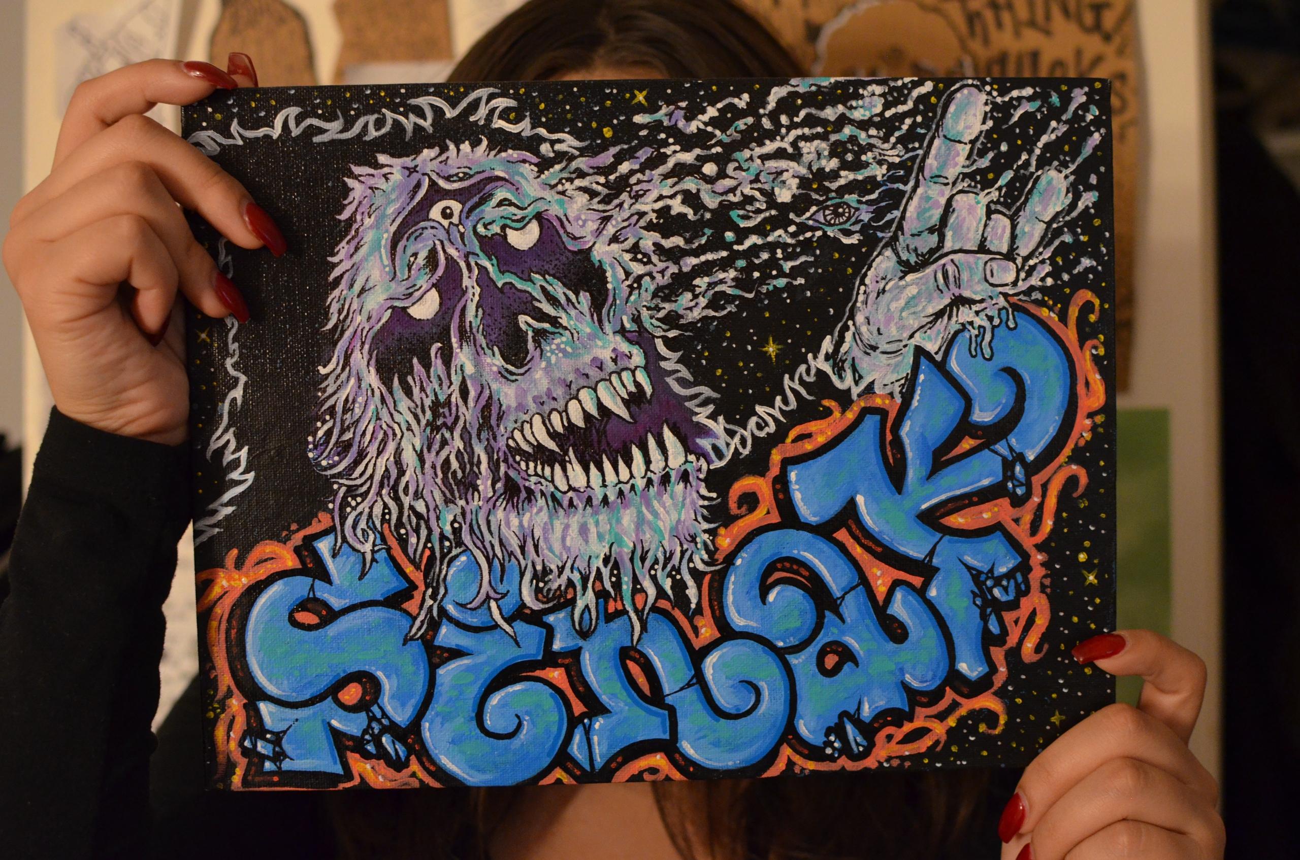 9x12in 'Guerrilla' Acrylic mark - royesauluna | ello