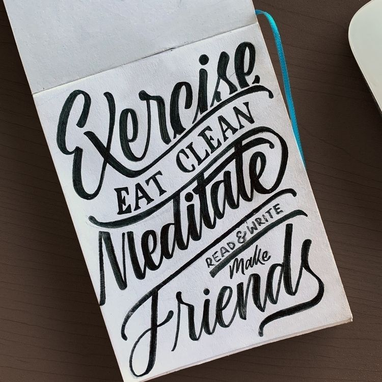 year, habits - lettering, handlettering - chuckchai | ello