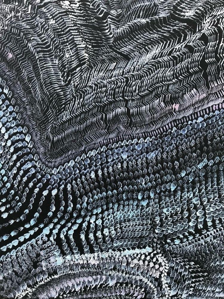 Footprints Acrylic Canvas 14X11 - libatshakked | ello