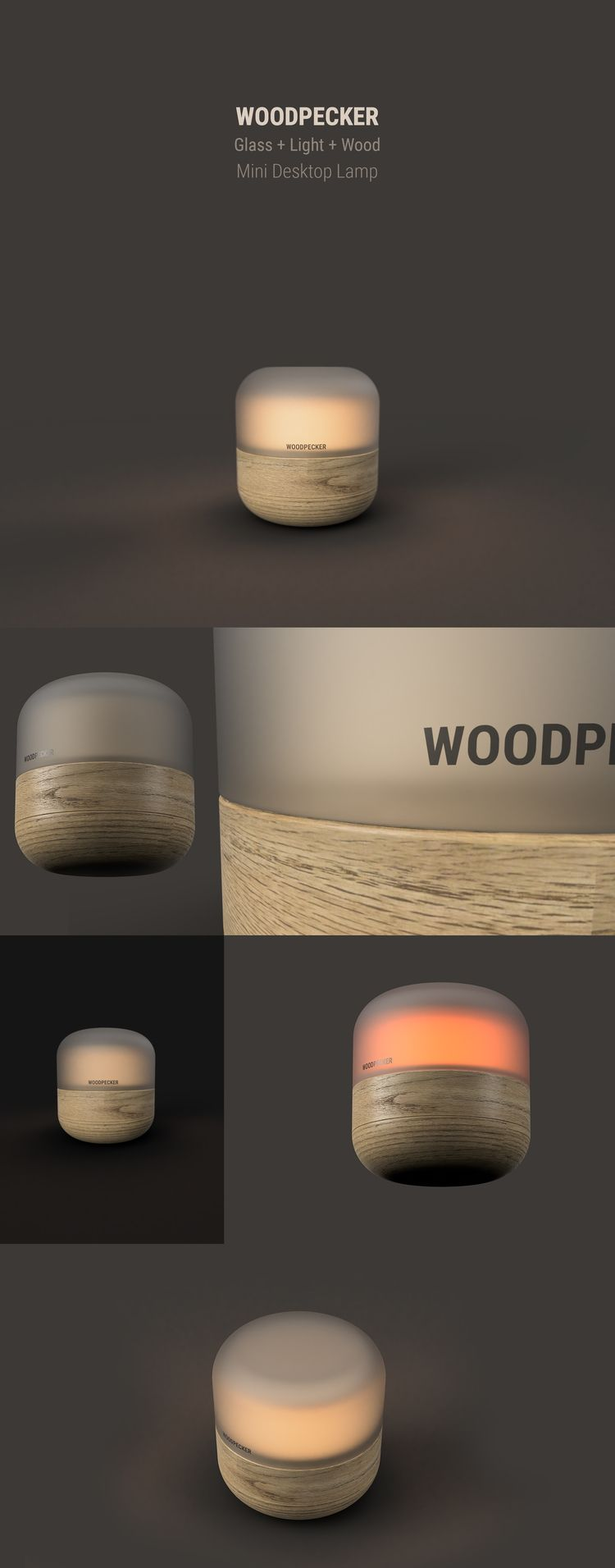 WoodPecker - Mini Desktop Lamp  - emrahserdaroglu | ello