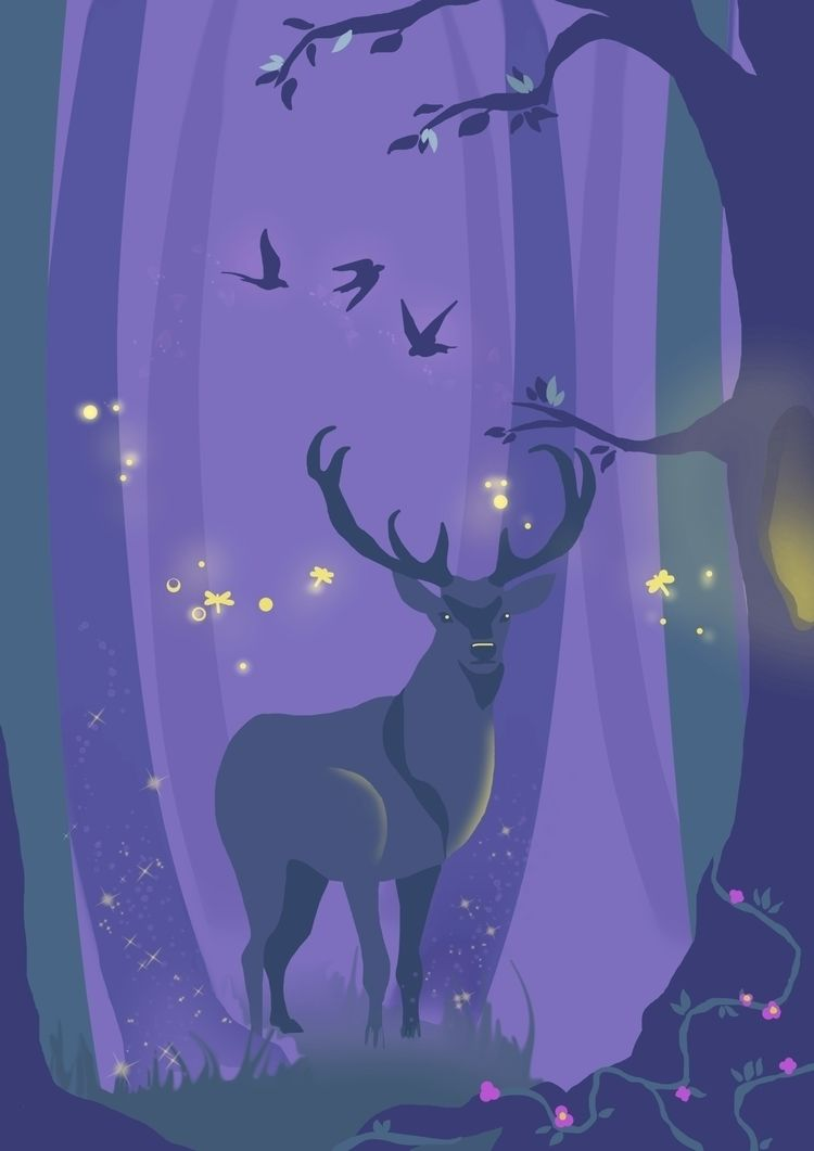 Enchanted Forest - magic, forest - ambernillustrations | ello