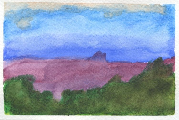 woman Arizona - painting, watercolour - pfig   ello