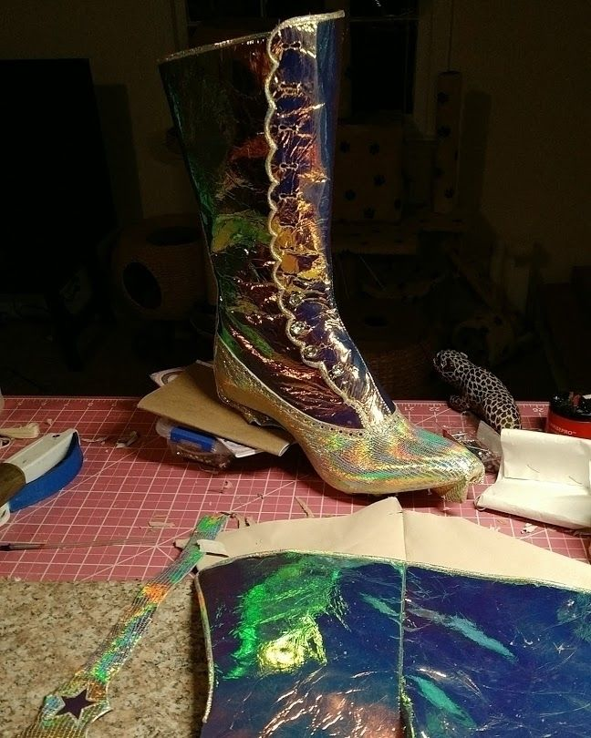 iridescent, holographic, boots - meryle   ello