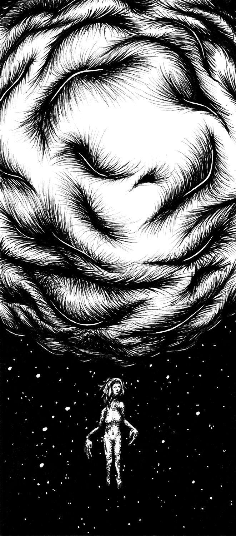 Serenity Seeker 9x4 Ink paper - penandink - daryllpeirce | ello