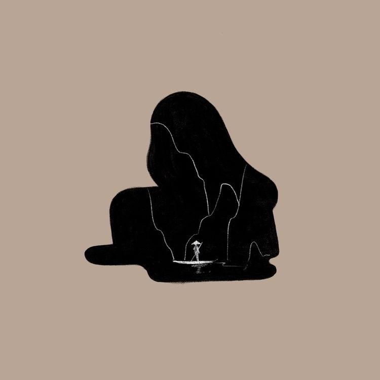 Quiet place - illustration, minimal - jzhenm | ello