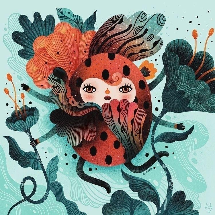• Ladybug - illustration, digitalart - muxxi | ello