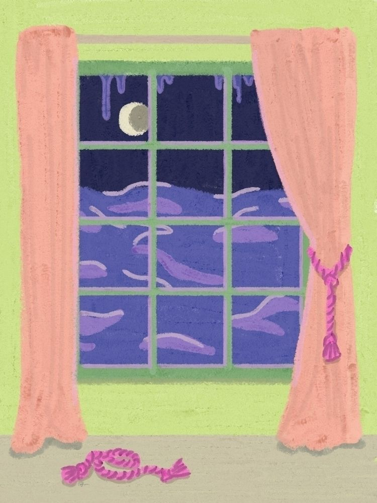 Window Night, 2018 - illustrators - mignonnemariej | ello