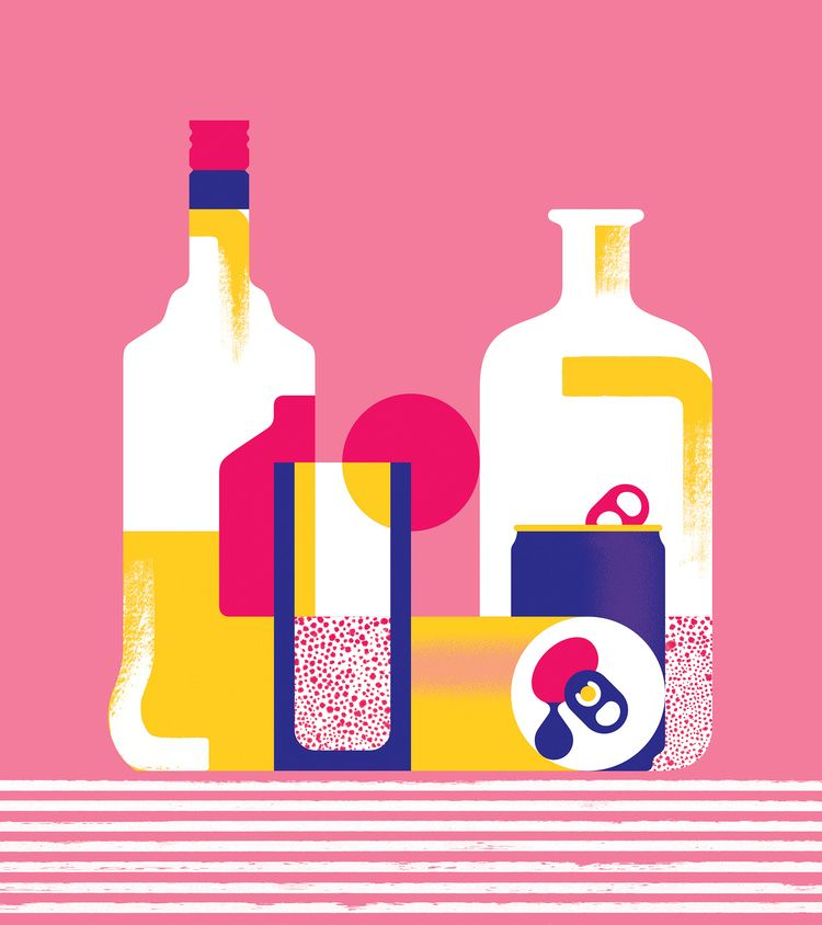 Booze - 2, illustration, art, design - alconic | ello