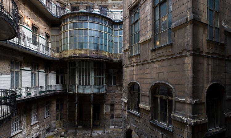 Art nouveau courtyard Hungary.  - forgottenheritage | ello