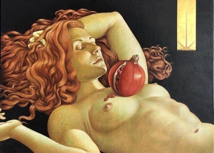 "Painting Michael Bergt ・・・ ""Per - dulcemenendez | ello"