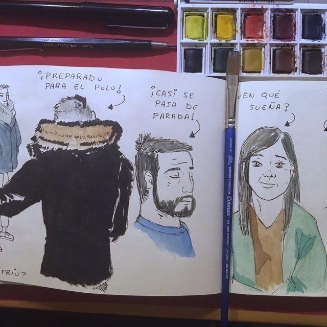 Gente sueña en tren - Madrid, color - antoniofse | ello