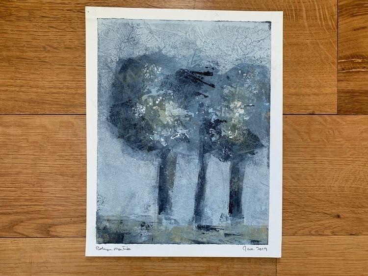 Original painting trees — 8 10  - martinsrobyn   ello