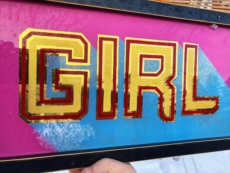 gold, signpainter, girl, grlpwr - robin_enstrom | ello
